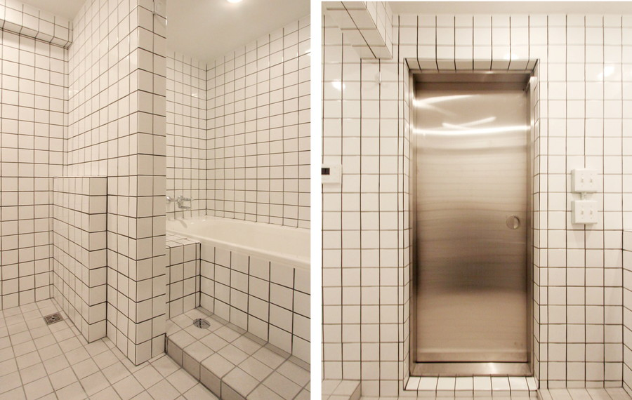 中古リノベーション:まるでNYの地下鉄!?スタイリッシュなバスルーム