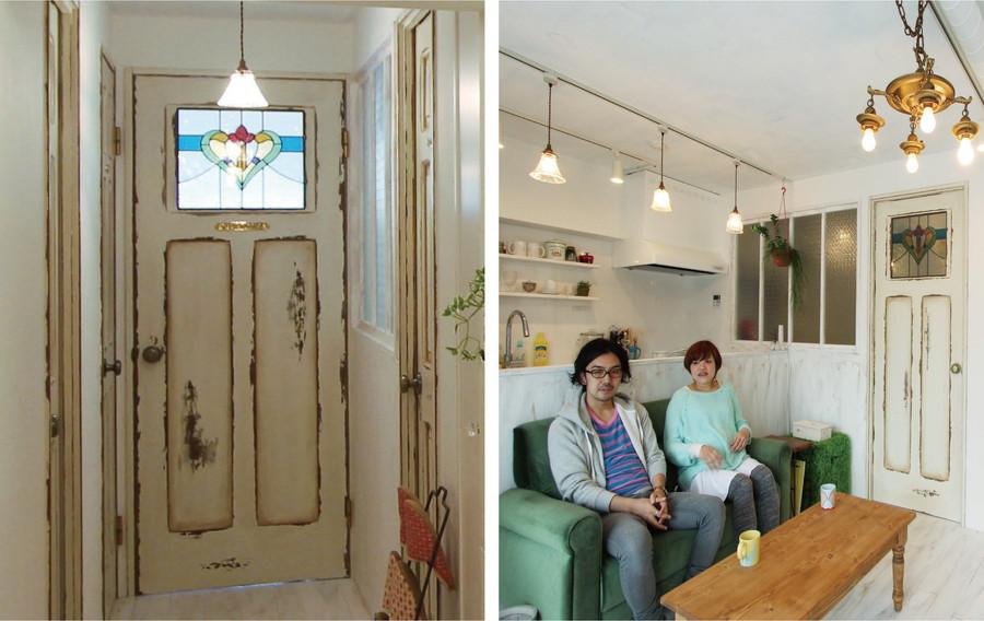 中古リノベーション:おとぎの国へようこそ! ステンドグラスのメルヘンなドア