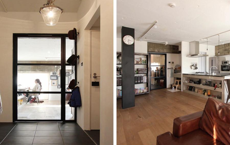 中古リノベーション:デザイン性も機能性もバッチリ! 美しいガラスのドア