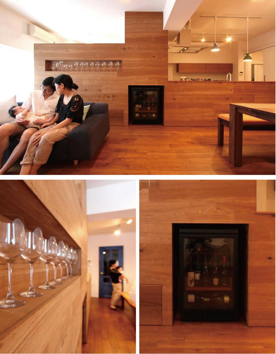 中古リノベーション:今夜はお家でbarタイム!ワインを楽しめるリノベ部屋
