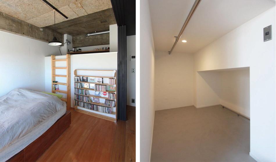篭れる秘密基地! 書斎のあるロフトスペース