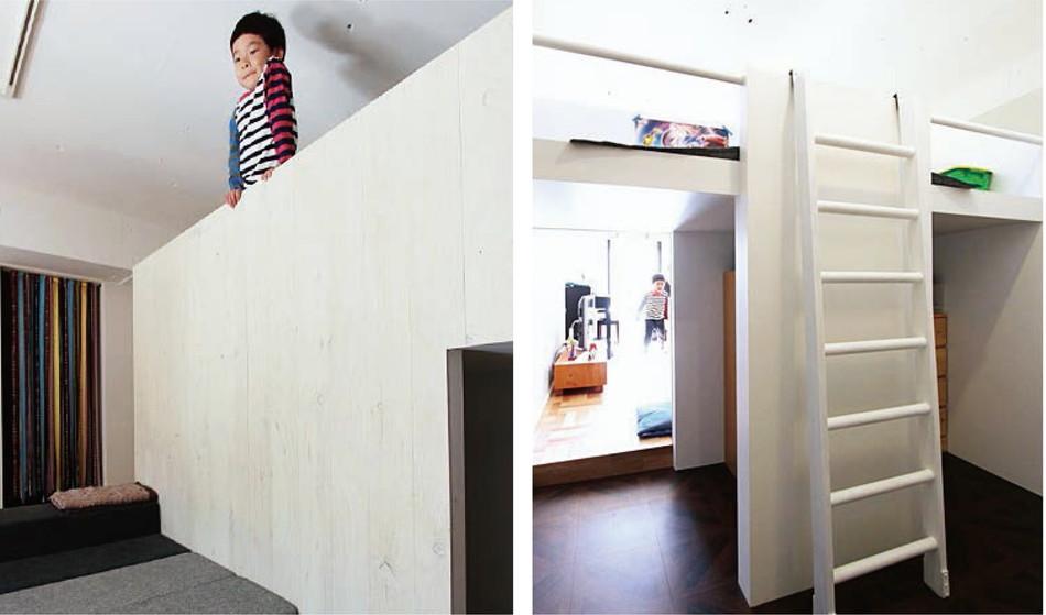 中古リノベーション:いつでも家族と一緒! 子供部屋のあるロフトスペース